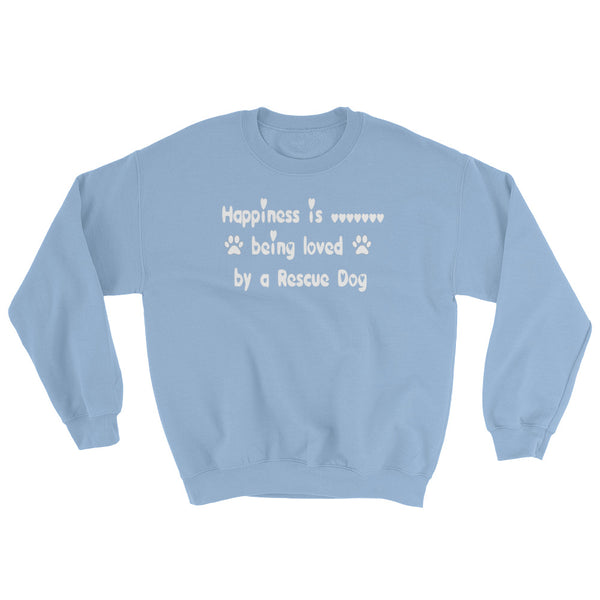 Rescue Dog lover gift long sleeve sweat shirt