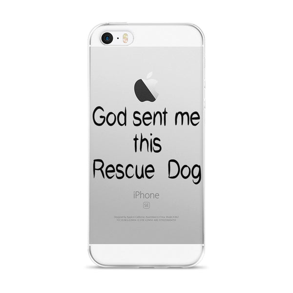 Rescue pet message on durable polycarbonate back i phone cover