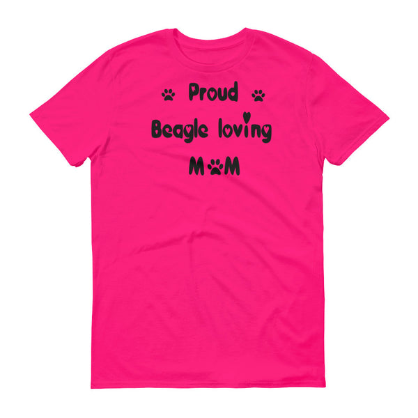 Proud Beagle loving Mom - dog breed shirt