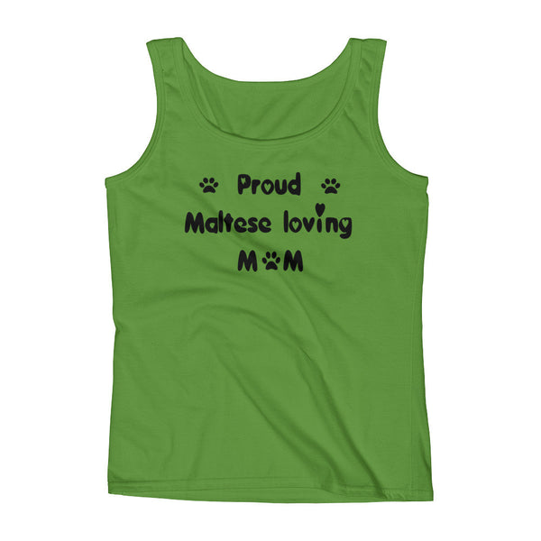 Proud Maltese loving Mom - Ladies' Tank -  100% pre-shrunk ring-spun cotton • Feminine silhouette