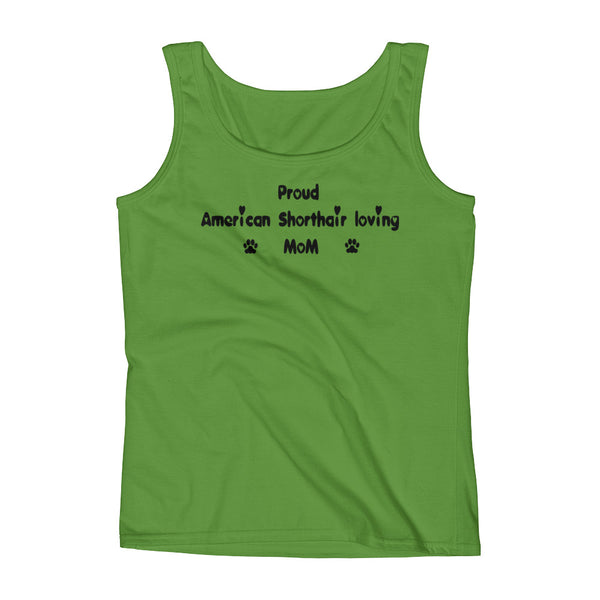 American Short Hair loving Mom - Ladies' Tank -cat pet lover Tee gift
