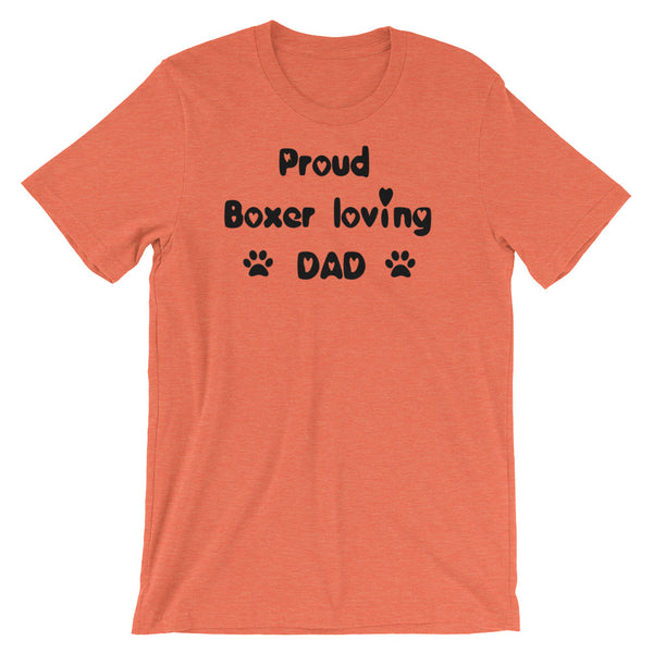 Proud Boxer loving DAD - Unisex short sleeve t-shirt - Baby-knit jersey