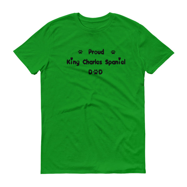 King Charles Spaniel loving Dad saying T shirt