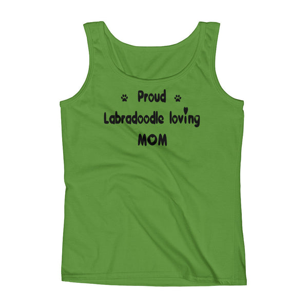 Proud Labradoodle loving Mom - Ladies' Tank - 100% pre-shrunk ring-spun cotton • Feminine silhouette