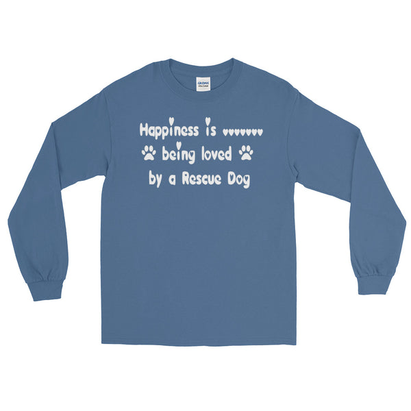Rescue Dog lover gift - long sleeve Tee shirt