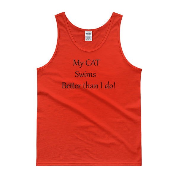 cute cat saying Tank Top - • Pre-shrunk