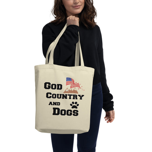 Patriotic - Pet themed - custom unique dog lover Eco Tote Bag - Gift