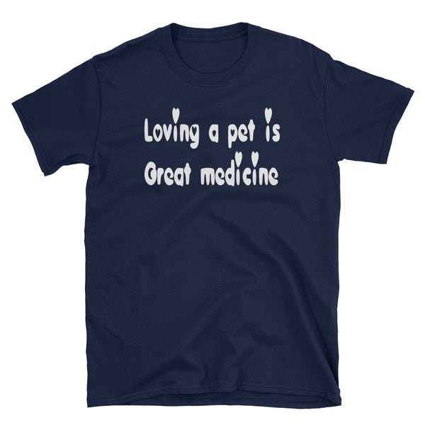 Loving a Pet - High quality, low cost pet themed T shirt - gift