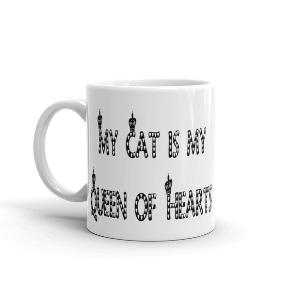 Funny cat saying mug - sturdy white, glossy ceramic coffee cup