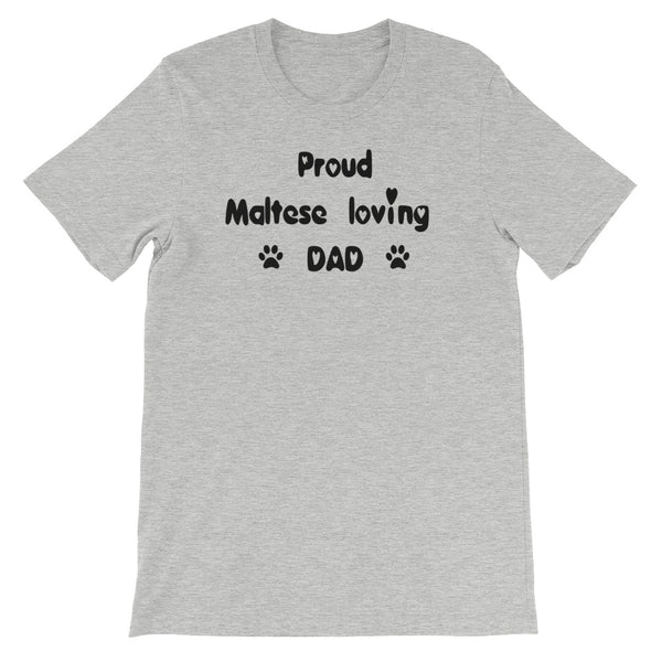 Proud Maltese loving DAD - Unisex short sleeve t-shirt - Baby-knit jersey