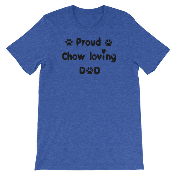 Proud Chow loving Dad - Unisex short sleeve t-shirt -  Baby-knit jersey