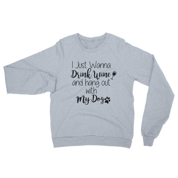 Funny dog saying - pet themed raglan cotton sweatshirt.