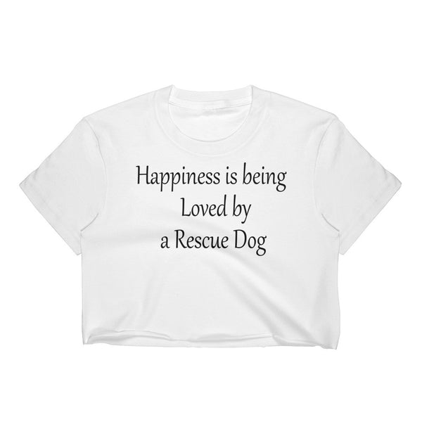 Rescue Pet - Rescue Dog themed - Crop Top shirt - Made USA