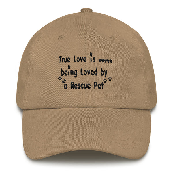 Unique Rescue Pet themed - Pet lover Unisex baseball cap - hat