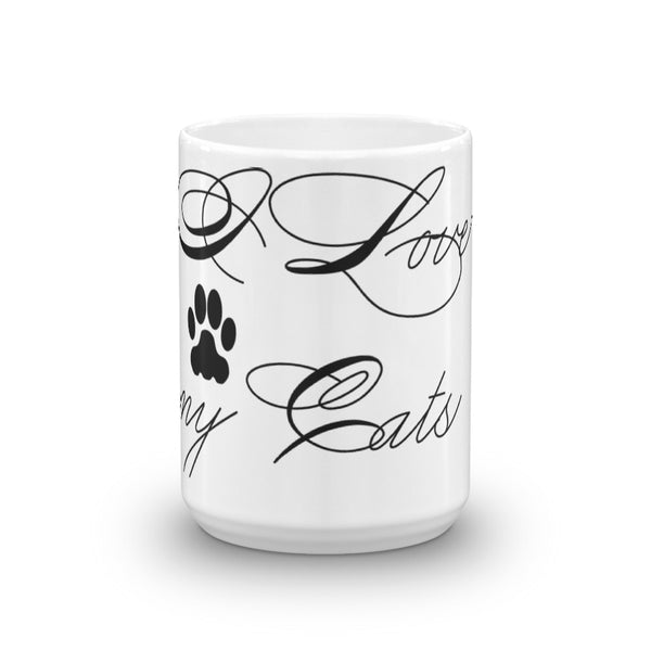 Popular, I Love my Cats - pet themed, cat lover coffee mug cup -gift