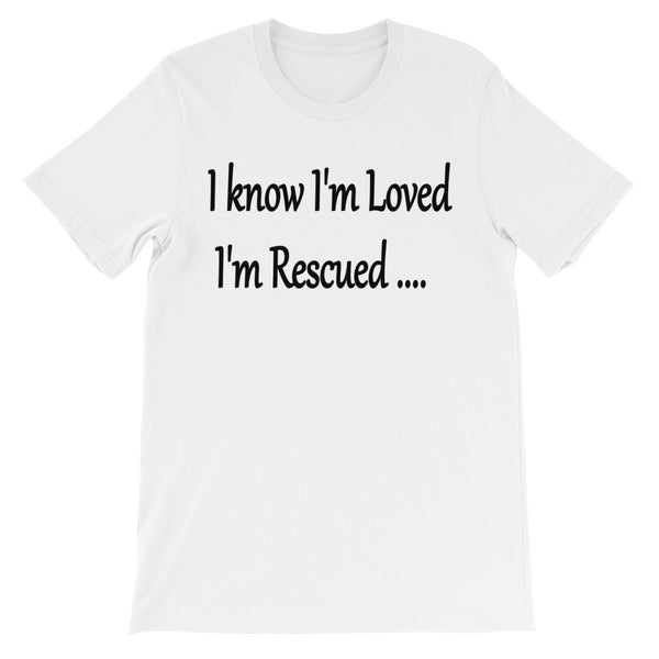 Rescue pet, dog, cat themed unique pet lover saying unisex t shirt