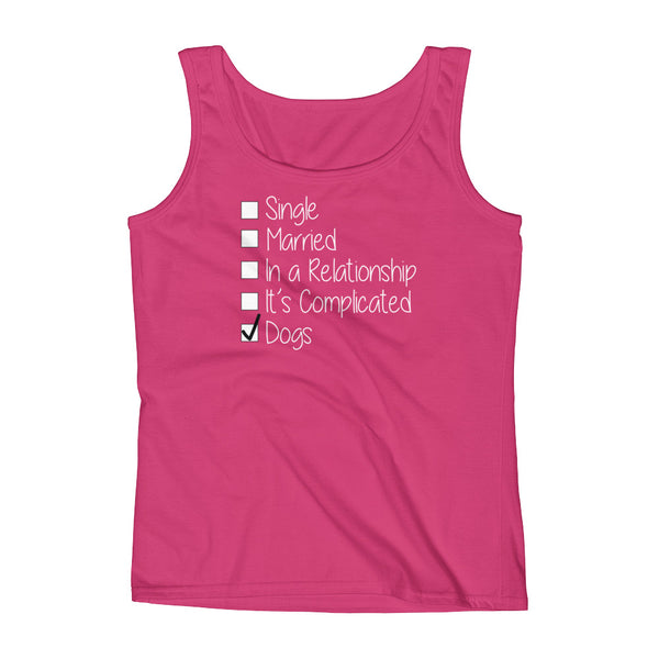 Dog themed Relationship status Tank top