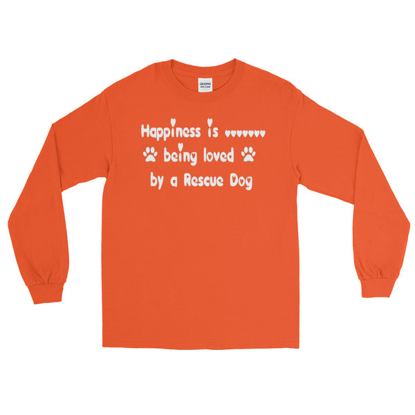 Rescue Dog lover gift long sleeve Tee shirt -  gift