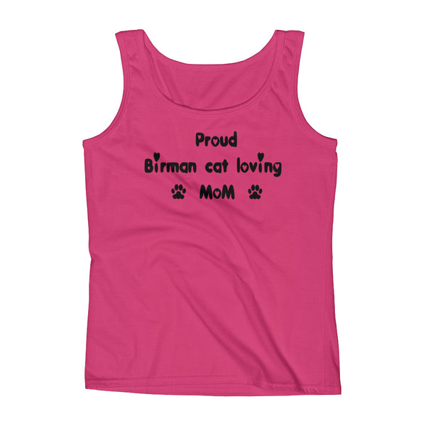 Proud Birman cat loving MOM - cat breed Tank top shirt