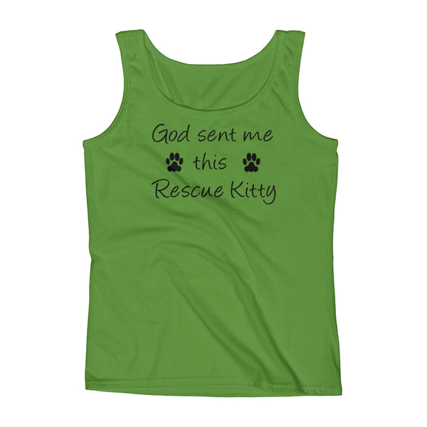 God sent me this Rescue Kitty - Rescue pet themed Tank top shirt