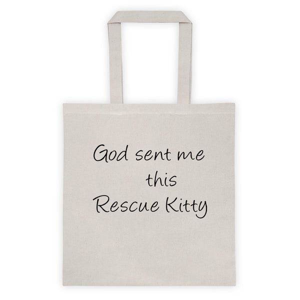 Rescue Pet - Cat themed 6 oz, 100% cotton canvas tote bag