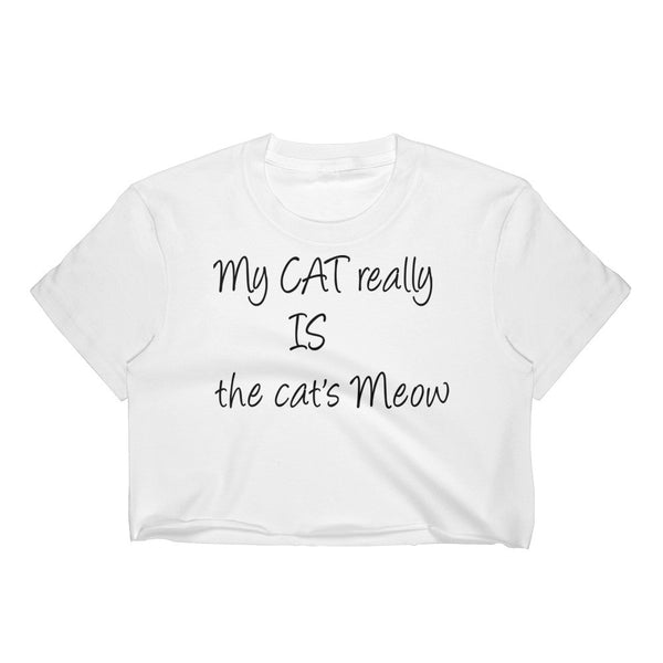 Cute and funny saying cat crop top 100% 30/1 combed cotton • Form fitting