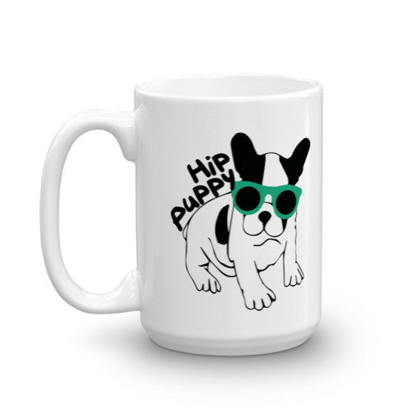 Original Hip Puppy logo Pet, dog themed mug - coffee cup gift