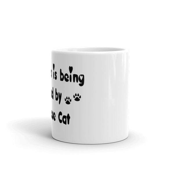 Happiness is being Loved by a Rescue Cat - cat themed coffee mug