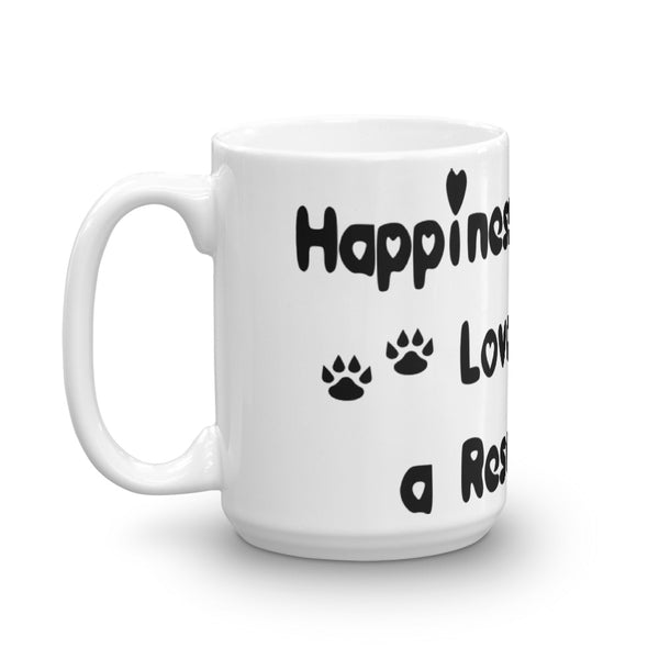 Happiness is being Loved by a Rescue Cat - Pet themed coffee mug