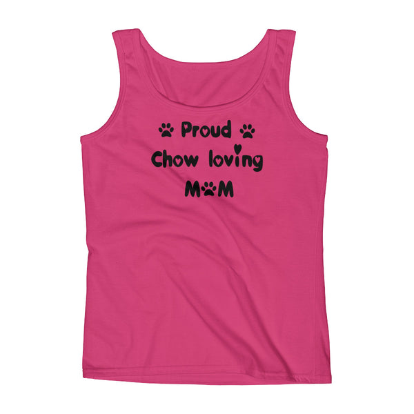 Proud Chow loving Mom - Womens  dog themed Tank Top