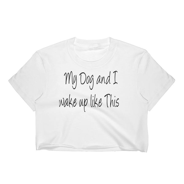 Cute and funny saying dog crop top 100% 30/1 combed cotton • Form fitting