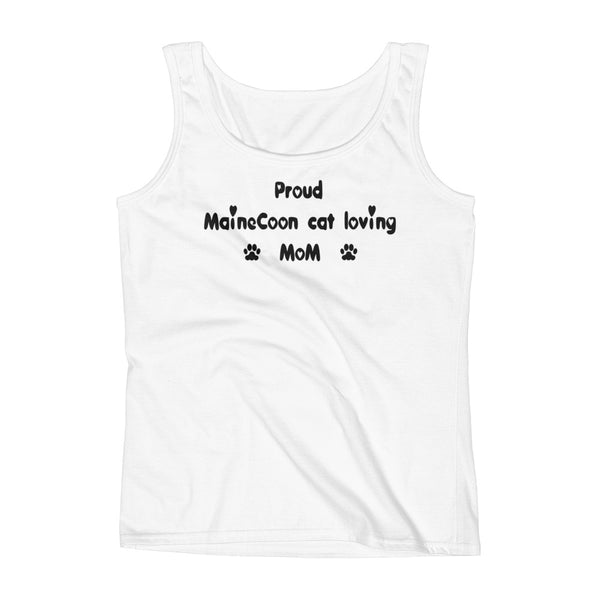 Proud MaineCoon cat loving Mom - Ladies' Tank - pre-shrunk ring-spun cotton
