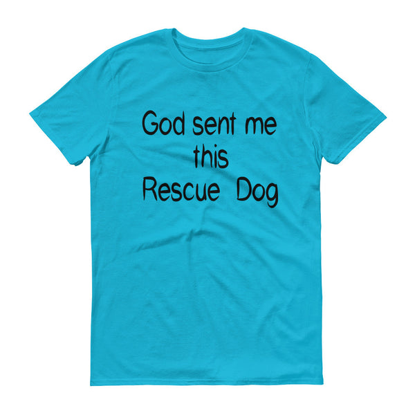 wonderful rescue dog themed saying on quality pet shirt