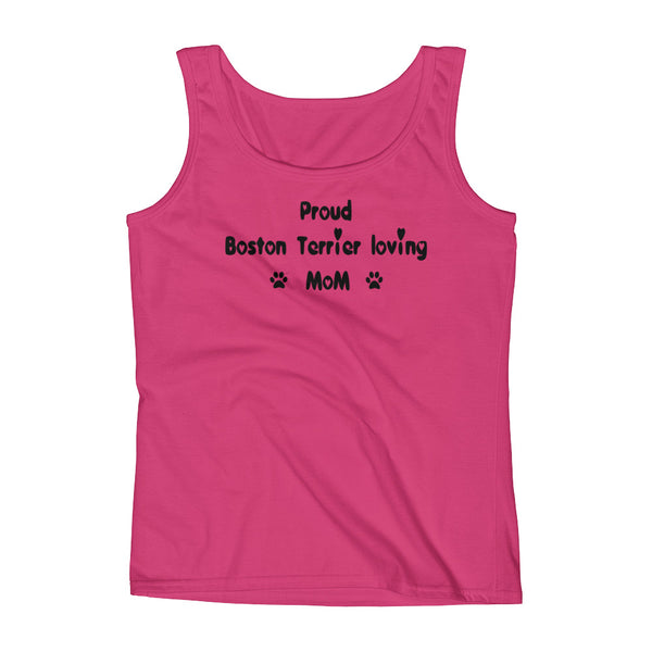 Proud Boston Terrier loving Mom -  dog themed Tank top shirt