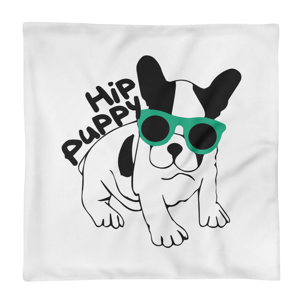 Hip Puppy designer logo - dog - pet themed Square Pillow Case