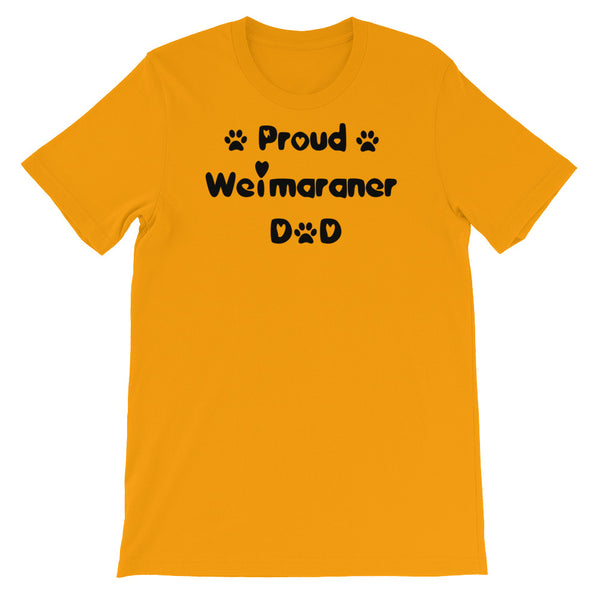 Proud Weimaraner Dad - Unisex short sleeve t-shirt - Baby-knit jersey