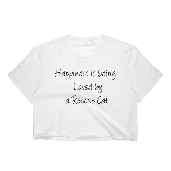 Rescue cat - Rescue Pet themed  Crop Top - Quality Made in USA