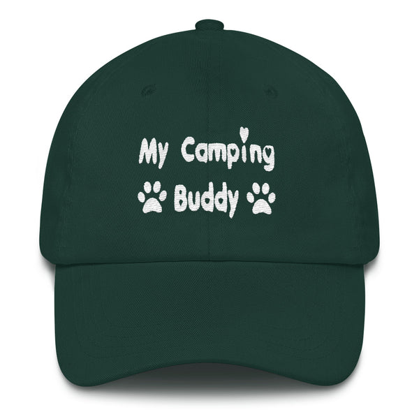 Unique Pet themed - Dog camping buddy baseball cap - hat