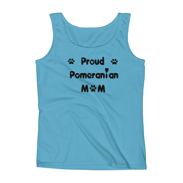 Proud Pomeranian Mom - Ladies' Tank -  100% pre-shrunk ring-spun cotton • Feminine silhouette