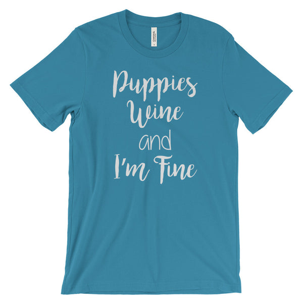 Puppies & Wine Unisex Tee