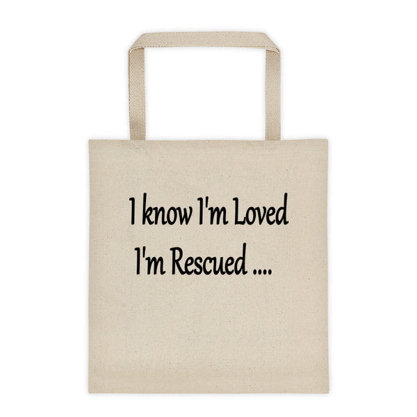 Rescue pet, dog, cat themed unique pet lover saying  tote bag