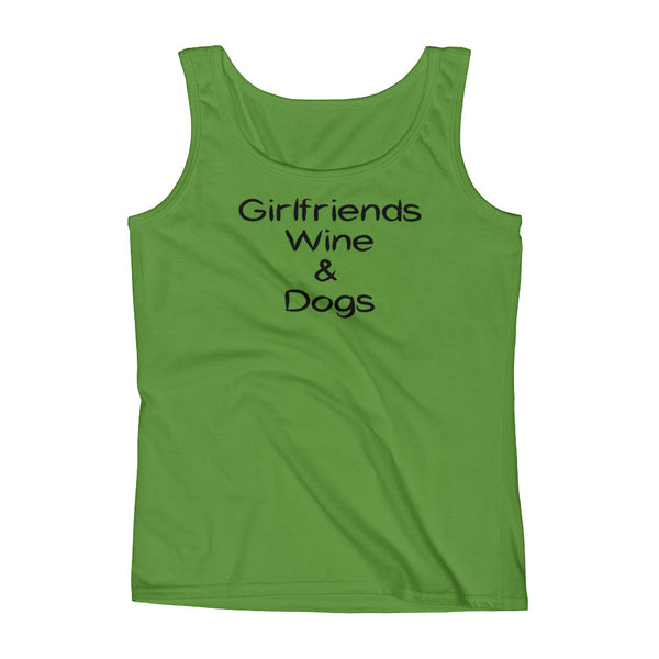 Girlfriends Wine & Dogs - Pet - Dog themed Tank top