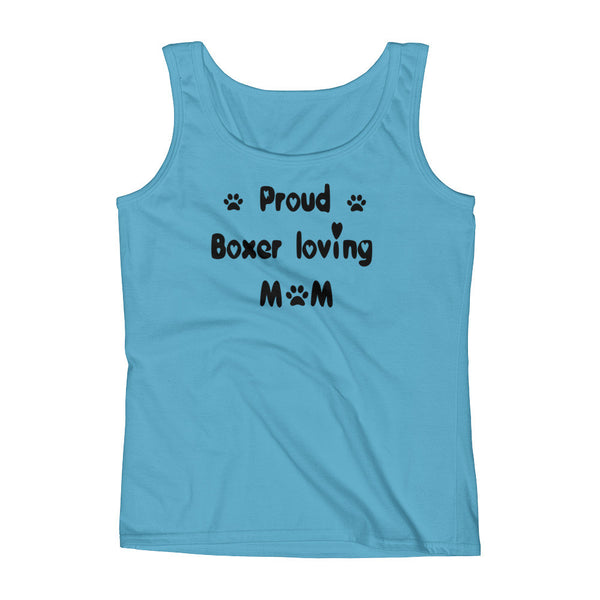Proud Boxer loving Mom - Ladies' Tank -  100% pre-shrunk ring-spun cotton • Feminine silhouette