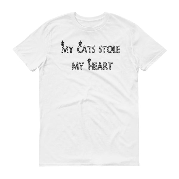 My Cats Stole my Heart - Short sleeve t-shirt -  100% ringspun lightweight cotton • Pre-shrunk