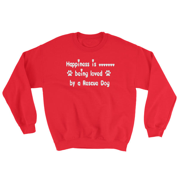 Rescue Dog lover gift - Red sweatshirt