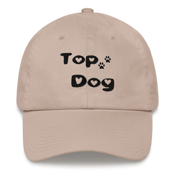Unique  Pet - Dog themed Top Dog baseball cap - hat