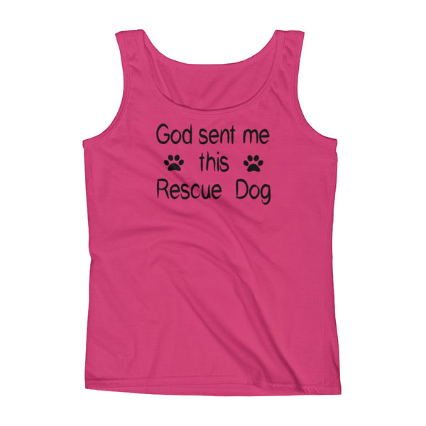 God sent me this Rescue Dog Tank top shirt - Dog lover gift
