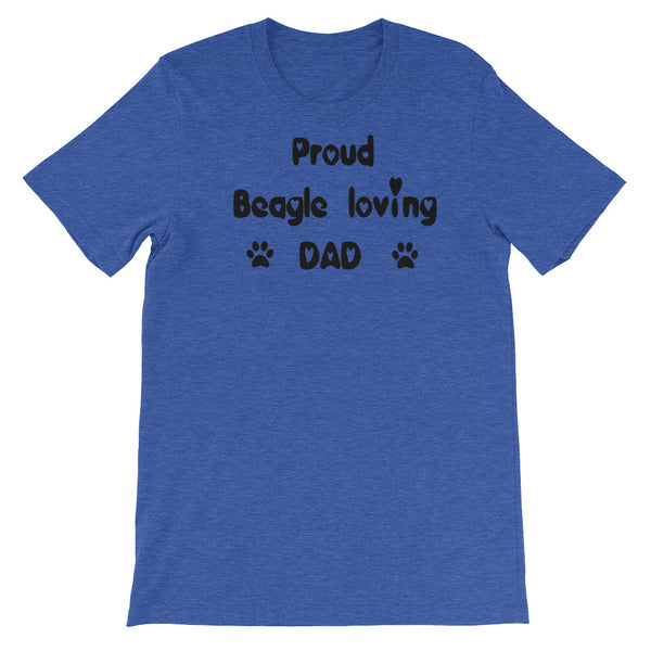 Proud Beagle loving DAD -  dog breed T shirt