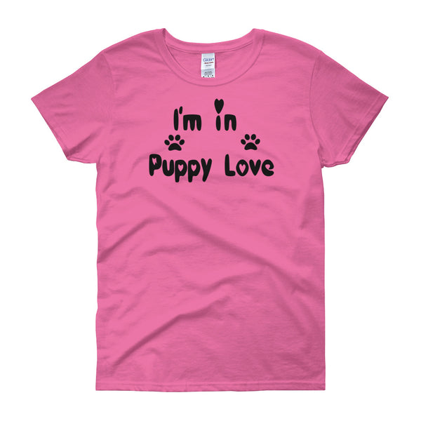 I'm in Puppy Love - Womens T shirt