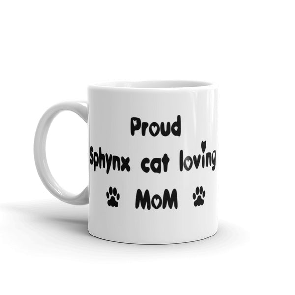 Proud Sphynx cat loving Mom - Mug
